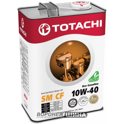 Масло моторное TOTACHI Eco Gasoline SAE 10W40 SM/CF 1L