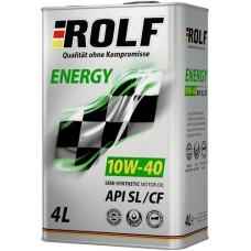 Масло моторное ROLF Energy SAE 10W40 SL/CF 4L