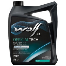 Масло моторное WOLF OFFICIALTECH SAE 5W30 C2 4L (8309014)