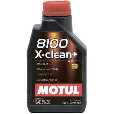Масло моторное MOTUL 8100 X-clean+ SAE 5W30 SM/CF 1L (№106376)