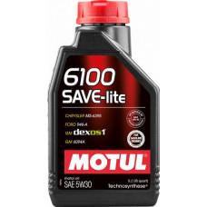 Масло моторное MOTUL 6100 SAVE-LITE SAE 5W30 4L (№107957)
