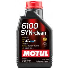 Масло моторное MOTUL 6100 SYN-CLEAN SAE 5W40 1L (№107941)