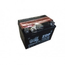 АКБ Мото ZDF 1204  MF BLACK  (обратная)   (YTX4L-BS)+электролит