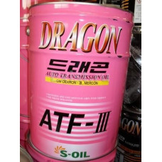 Масло трансмиссионное S-OIL DRAGON ATF Dexron III 200L розлив