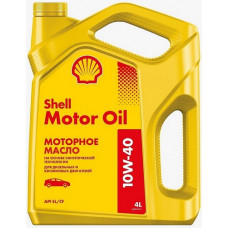 Масло моторное Shell Motor Oil SAE 10W40 4L