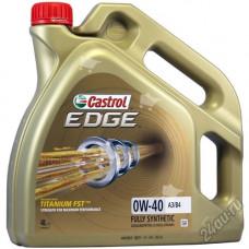 Масло моторное Castrol Edge SAE 0W40 Titanium 4L (№156E8C)