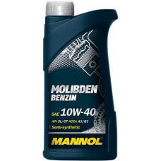 Масло моторное Mannol Molibden Benzin SAE 10W40 SL/CF 1L (№1120)