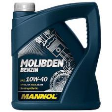 Масло моторное Mannol Molibden Benzin SAE 10W40 SL/CF 4L (№1121)
