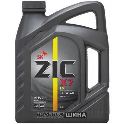 Масло моторное ZIC X7 LS SAE 10W40 SM 4L (№162620)