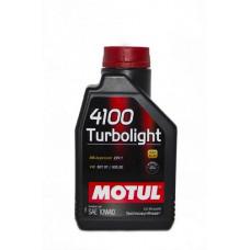 Масло моторное MOTUL 4100 Turbolight SAE 10W40 SL/CF 1L (№108644)