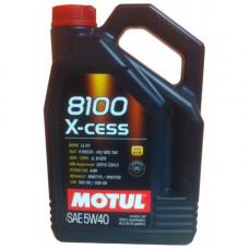 Масло моторное MOTUL 8100 X-cess GEN 2 SAE 5W40 SN/CF 5L (№109776)