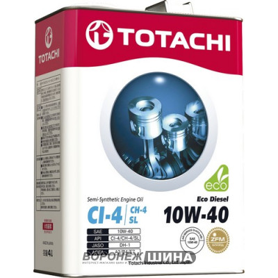 Масло моторное TOTACHI Eco Diesel SAE 10W40 Cl-4/CH-4/SL 1L